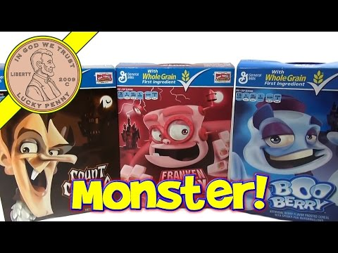 Monster Cereal Mix - Boo Berry, Count Chocula & Frankenberry - The Monster Mash!