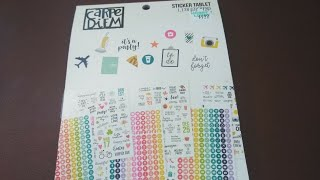Carpe Diem Sticker Tablet Flipthrough