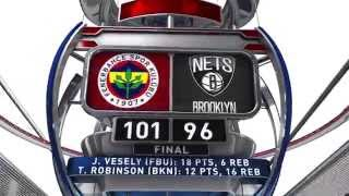World Tour 2015 Highlights: Brooklyn Nets-Fenerbahce Istanbul 96-101