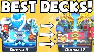 Clash Royale BEST ARENA 8 - ARENA 12 DECKS | BEST UNDEFEATED DECK ATTACK STRATEGY TIPS F2P PLAYERS