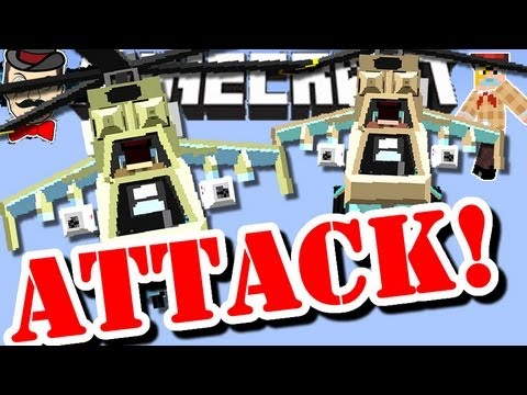 Minecraft ATTACK HELICOPTER ! Creeper Buster !