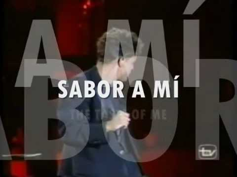 LUIS MIGUEL - SABOR A MI with TRANSLATION LYRICS ( TAKEN FROM The Album ROMANCES 1997 )
