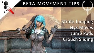 Quake Champions Training - BETA Movement Tips inc. Strafe Jumping