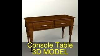 3D Model of Console Table Review