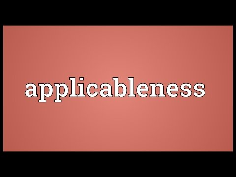 Header of applicableness