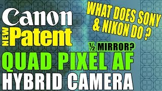 Canon Patent - Hybrid Camera Quad Pixel AF Full Frame Mirrorless Replacement