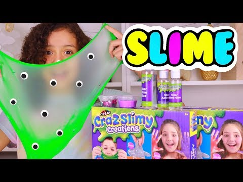 Cra-Z-Art Slime Making Kit Toy Unboxing | Cra Z Slimy Creations Slime
