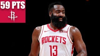 James Harden drops 59 points in historic 317-point game |  2019-20 NBA Highlights