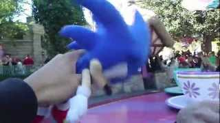 Sonic & Shadow Teacup Ride at Disney Land HD