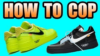 How To Get The OFF WHITE AIR FORCE 1   VOLT + BLACK Off White AF1 Release Info