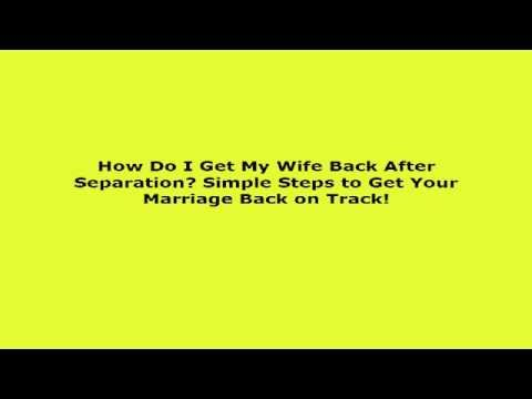 How to get your marriage back on track