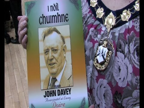 Hundreds of friends and comrades of assassinated Sinn Féin Councillor �glach John Davey joined with John's family in Lavey South Derry to commemorate the 25t...