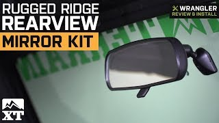 Jeep Wrangler Rugged Ridge Rearview Mirror Kit (1987-2018 Wrangler YJ, TJ, JK) Review & Install