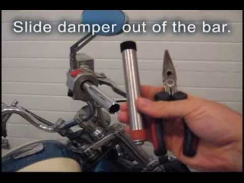 Steiger Performance Motorcycle Handlebar Vibration Damper Installation and Removal