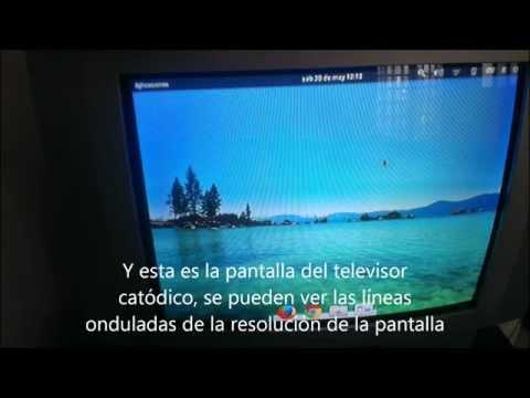 Como conectar el portátil a una televisión antigua