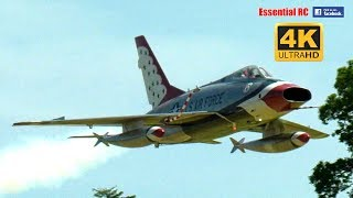 GIANT SCALE North American F-100  D Super Sabre supersonic RC JET FIGHTER [* UltraHD / 4K *]