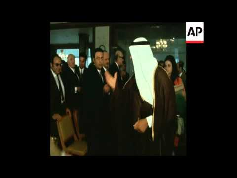 SYND 12/05/71 SAUDI ARABIAN FOREIGN MINISTER IBN ABDEL AZIZ NEWS CONFERENCE