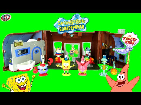 Spongebob Squarepants Krusty Krab Playset Fun Toy Review With Squidward Patrick Plankton, Simba Toys video