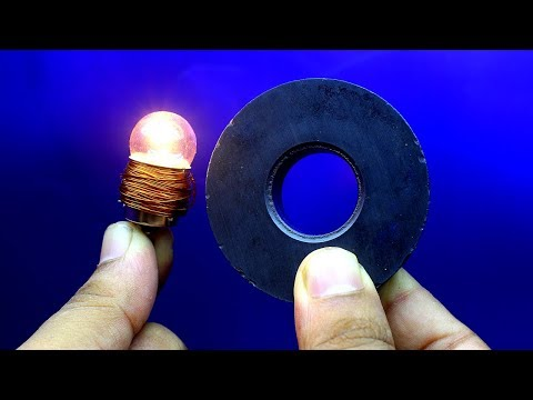 12v Free Energy Electricity Generator Light Bulb - Using Magnet And Copper Wire thumbnail