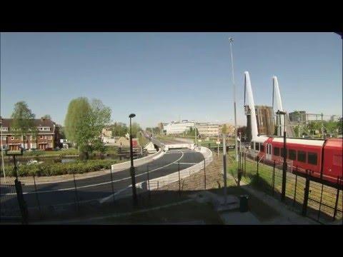 Timelapse: Bruggen HOV-as en spoor