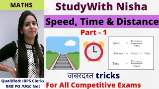Speed, Time & Distance in Hindi Part - 1 (SSC CGL|BANK PO|CDS|CLERICAL|RRB|SBI|CHSL|RBI|CAT)