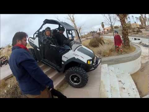 Rhino vs RZR in Water Park
