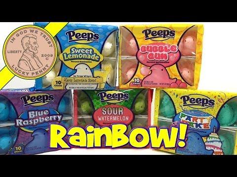 Easter Peeps Rainbow Flavors Series!