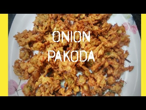 Onion pakoda recipe|| onion pakoda recipe in telugu|| easy snack recipe