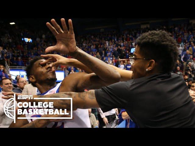 Massive brawl breaks out at end of Kansas-Kansas State | College Basketball on ESPN thumbnail
