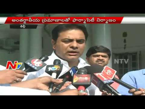 KTR Meets Venkaiah Naidu over Budget for Musi River Cleaning and Pharma City | NTV