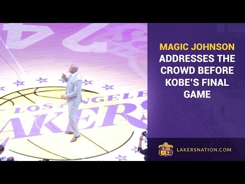 Magic Johnson's Speech At Kobe Bryant's Final Lakers Game