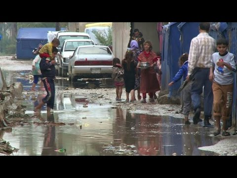 Displaced Iraqis struggling after heavy rains hit Baghdad