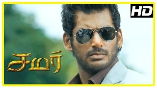 Samar Tamil Movie Scenes | Goons attack Vishal | Vishal is shocked to learn about his look alike