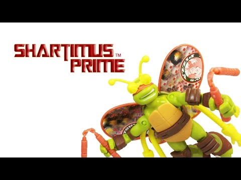 Teenage Mutant Ninja Turtles Mikey Turflytle Toy TMNT Nicktoons Cartoon Action Figure Review