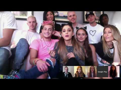 Google+ Hangout with Ariana Grande at SNL