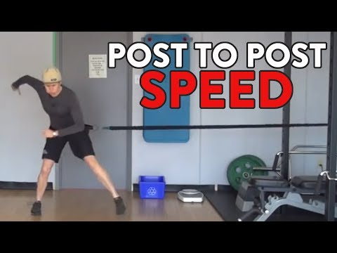 Hockey Goalie Training Drills:  Post to Post Speed