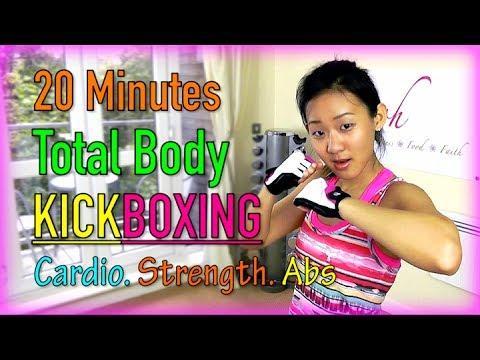 20 Minutes Total Body KICKBOXING! (Fat Burning Workout)