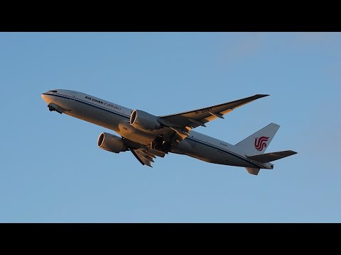 Air China Cargo Boeing 777 Freighter [B-2097] Departing LAX.