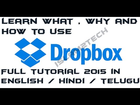 Full Tutorial about Dropbox with pin to pin options 2015, in Hindi