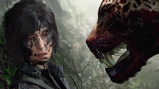 Shadow of The Tomb Raider - Jaguar Boss Fight (Tomb Raider 2018) PS4 Pro