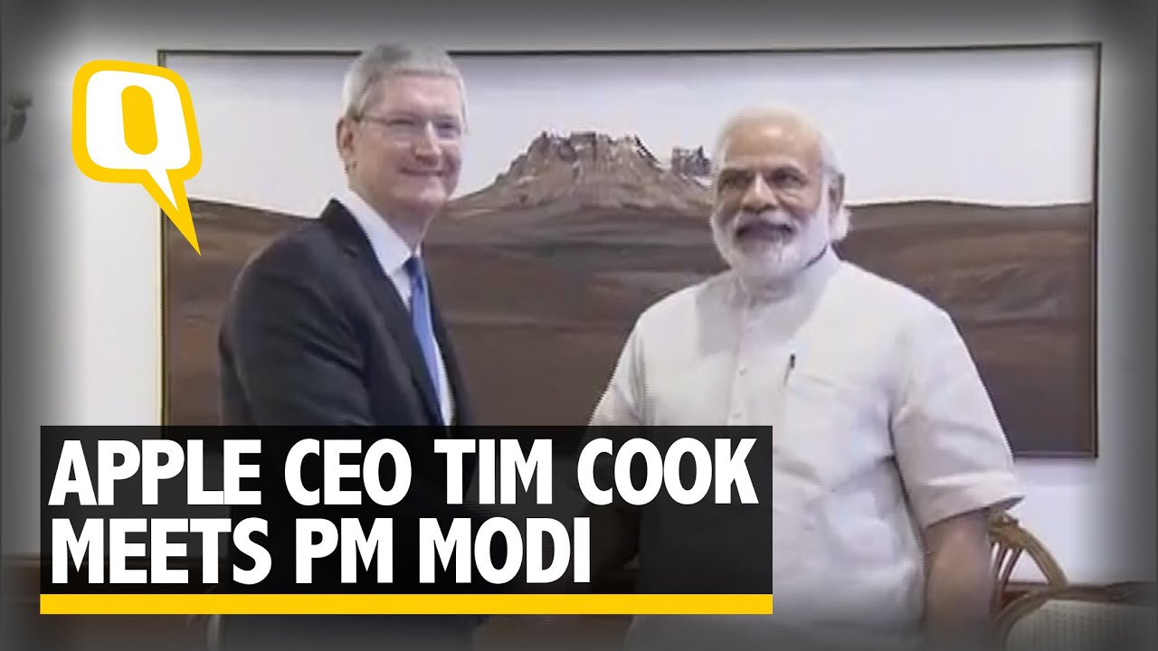 The Quint: Apple CEO Tim Cook Meets PM Modi, Launches an Update for NaMo App
