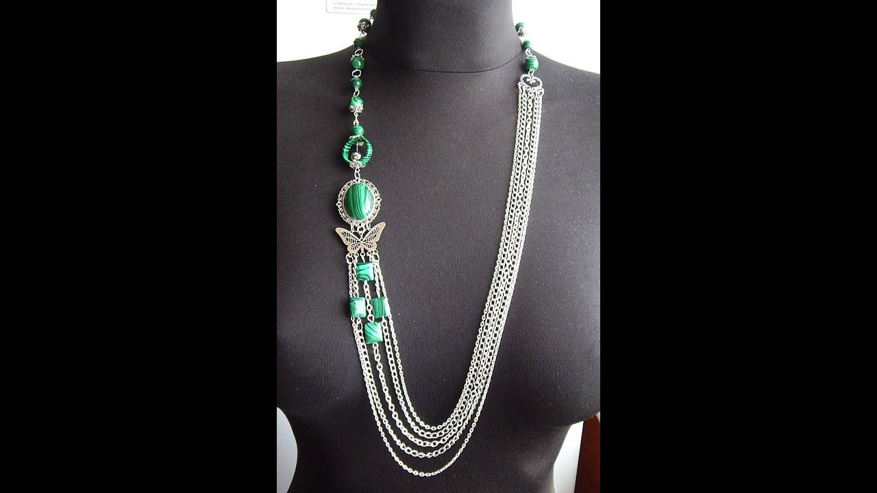Ожерелье на цепочке своими руками 26