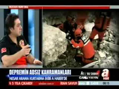 NESAR Ekipleri, A Haber de Canli Yayin Konugu Van Depremi Kurtarma Calismalari 2011