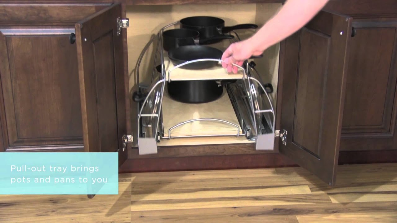 Medallion cabinetry pots and pans storage kitchen storage part 13 youtube - Space saving movable kitchen island get efficient kitchen traffic ...
