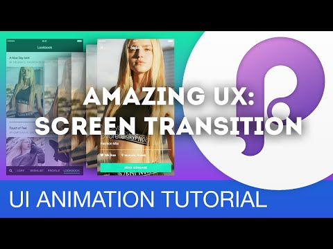 Amazing UX: Screen Transition • UI/UX Animations with Principle & Sketch (Tutorial)