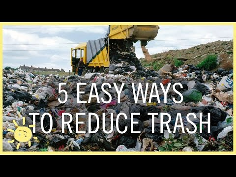 TIPS   5 EASY WAYS TO REDUCE TRASH!