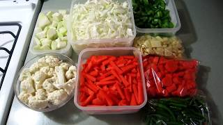How to store vegetables in the fridge | Indian Kitchen | Storing vegetables for the week Part- 1