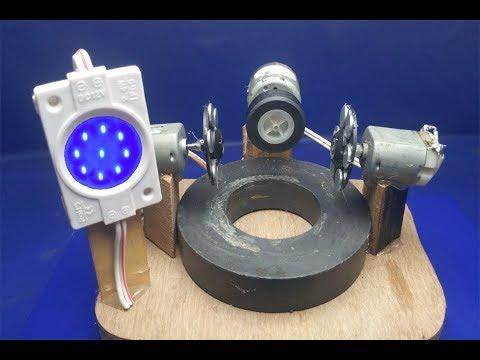 How to Make free energy light 12v Bulbs using Motor with Magnet - Free energy thumbnail