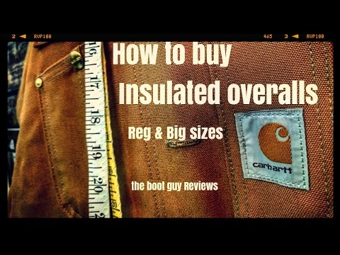 How to buy Insulated overalls [ The boot guy REVIEWS ]