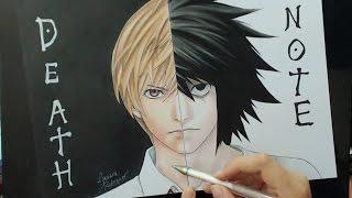 Speed Drawing - Kira | L (Death Note)